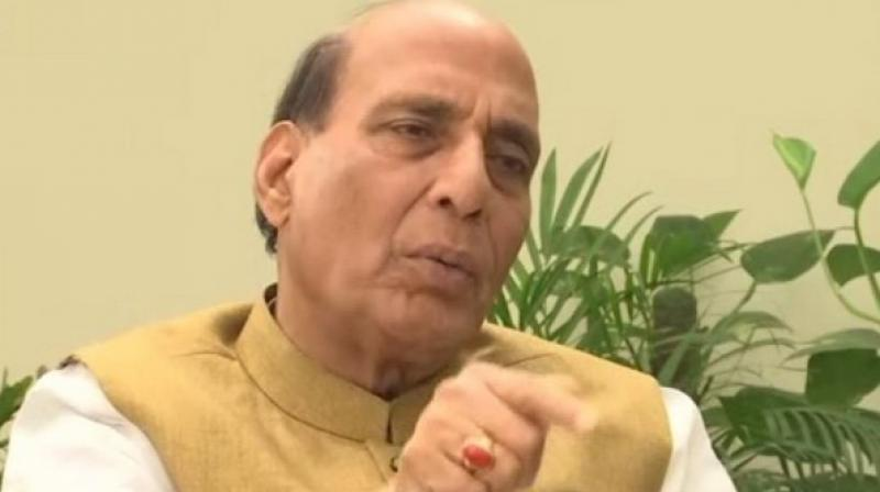 The Home Minister's remarks come amid heightened tension between New Delhi and Islamabad following February 14 Pulwama terrorist attack by Pakistan-backed Jaish-e-Mohammad terrorist on a security convoy in which 44 CRPF personnel were killed. (Photo: ANI)