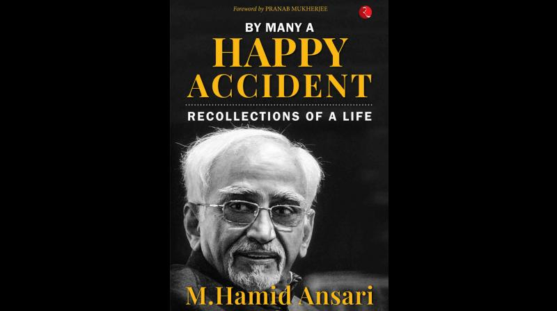 Cover page of By Many A Happy Accident by Hamid Ansari