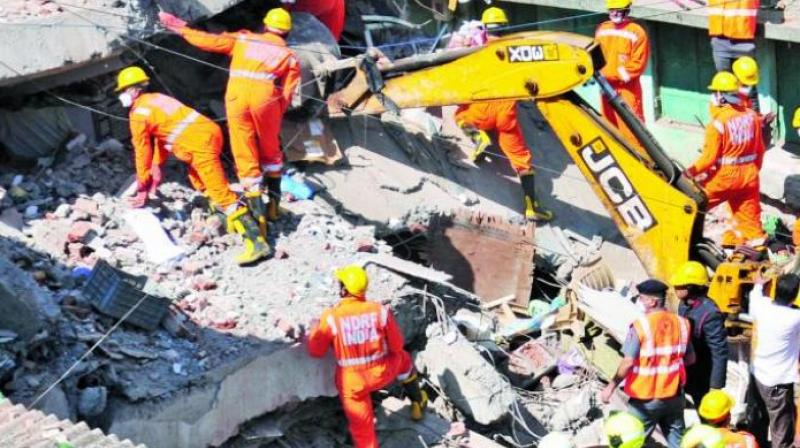 It was found that a rear portion of the building situated at Industrial Area on Old GT Karnal Road had collapsed. (Representational Image)