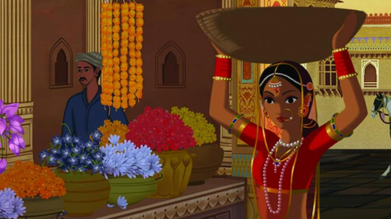 Stills from animation film Bombay Rose