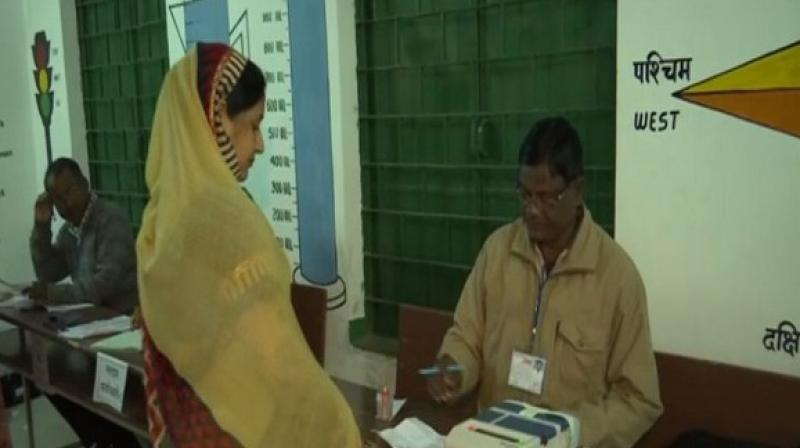 In the second phase of the five-phased elections, voting is being conducted at 20 constituencies including Jamshedpur East and Jamshedpur West. (Photo: ANI)