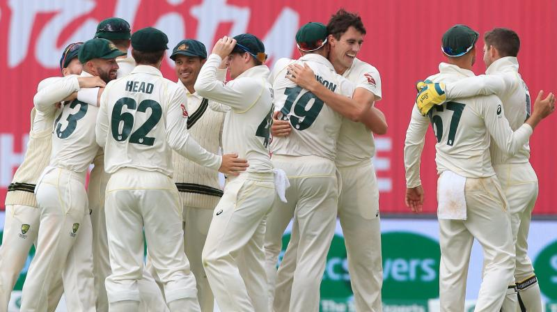 Lyon scalped six wickets in the second innings and as a result, he became the fourth Australian to cross 350 wickets in Test cricket. (Photo: AFP)