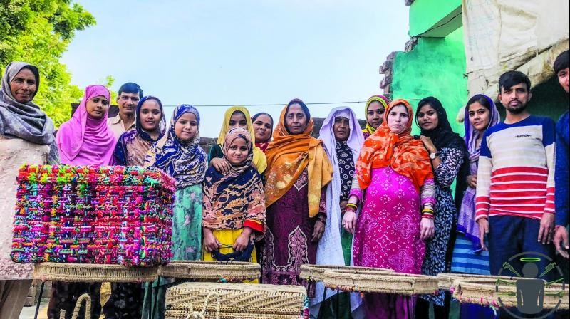 Women from Muzafarnagar with the products