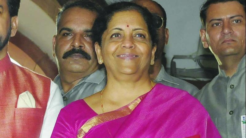 Nirmala Sitaraman arrives at Parliament to table the Budget. (Photo: Pritam Bandyopadhyay)