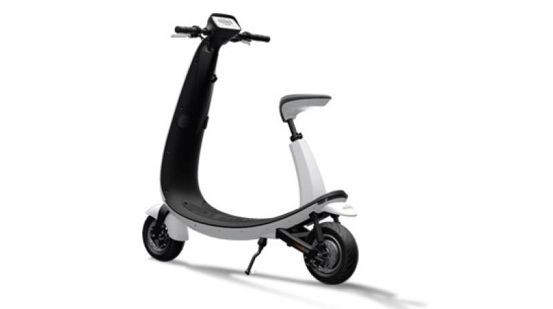 This futuristic OjO Commuter Scooter is priced around $2000.