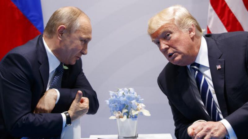 US President Donald Trump meets Russian President Vladimir Putin at the G-20 Summit in Hamburg. (Photo: AP)