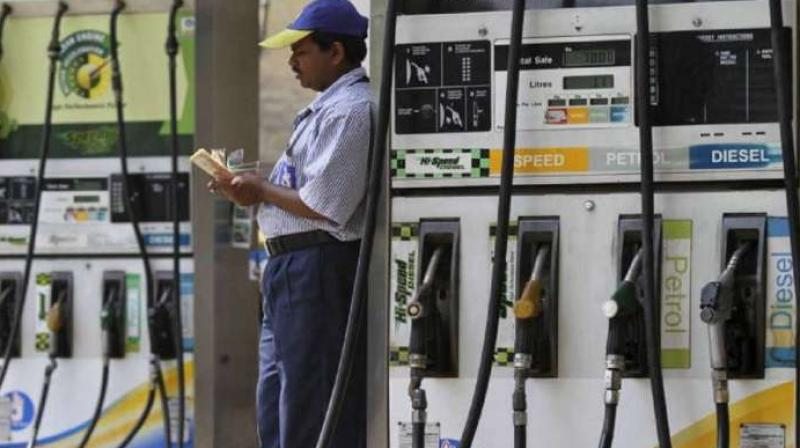Petrol sales shrank by 15.5 per cent and diesel demand tanked over 24 per cent in March. (Photo- PTI)