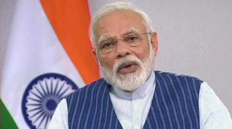 Prime Minister Narendra Modi asked Union ministers to prepare a plan for their respective ministries to contain the economic impact of covid-19. (Photo- ANI)