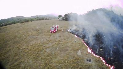 In this August 20, 2019 drone photo released by the Corpo de Bombeiros de Mato Grosso, brush fires burn in Guaranta do Norte municipality, Mato Grosso state, Brazil. Brazil's National Institute for Space Research, a federal agency monitoring deforestation and wildfires, said the country has seen a record number of wildfires this year. (Photo: AP)