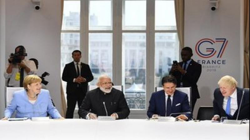 India is not a member of G-7 grouping but Prime Minister Modi has been personally invited by French President Emmanuel Macron. (Photo: ANI)
