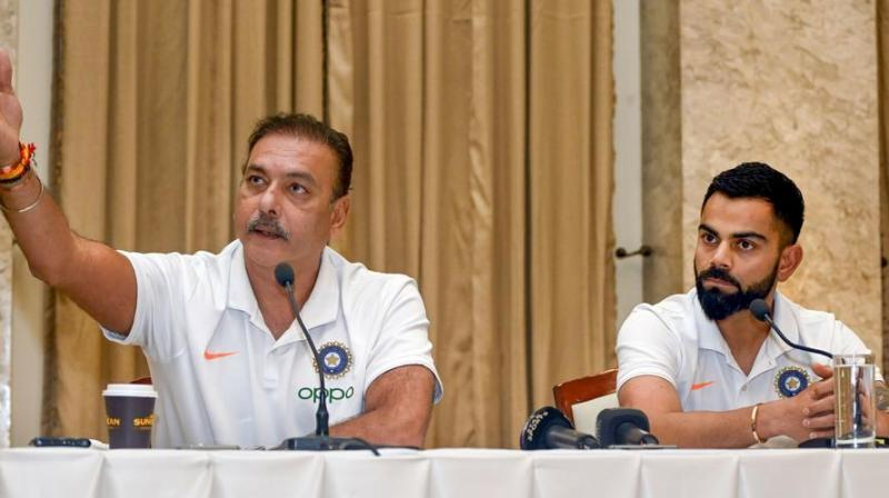 Ravi Shastri and Virat Kohli (Photo: AFP)