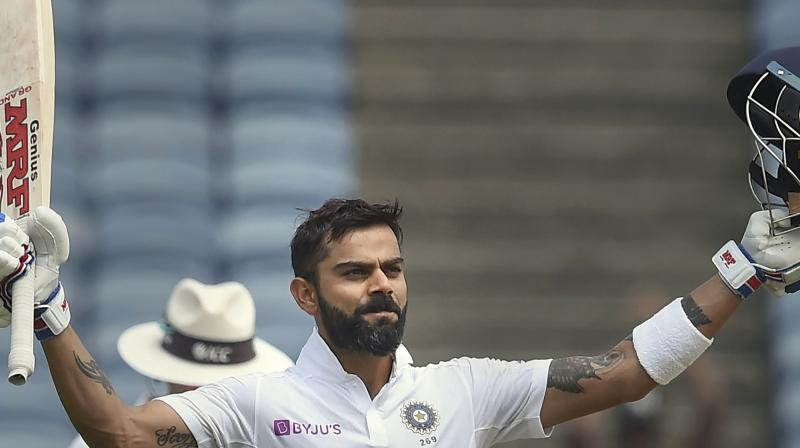 Kohli registered his 26th Test century on Friday and as a result, became the first Indian to score 40 hundreds as skipper. (Photo: PTI)