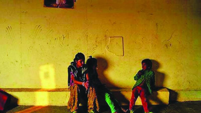 A night shelter in Delhi
