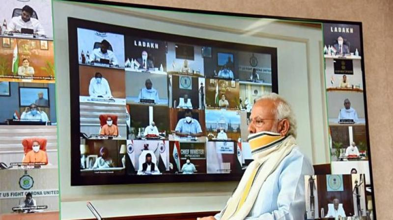 """Narendra Modi's imperious manner as Prime Minister contrasts with his attitude towards the Central government as the chief minister of Gujarat and his promise of pursuing """"cooperative federalism"""". (ANI)"""