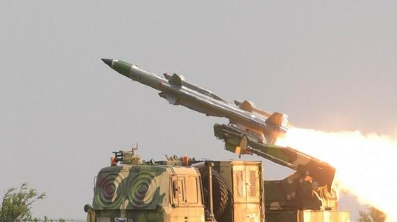 Seeking to prevent any intrusion of aircraft through the mountainous borders with Pakistan and China, the Defence Ministry is set to discuss a proposal to acquire two regiments of the Akash Prime missiles which can be deployed in high altitude areas above 15,000 feet. (Photo: File)