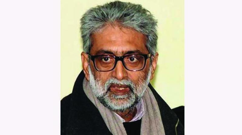 Navlakha and the other activists are accused of allegedly making inflammatory speeches and issuing provocative statements at the Elgar Parishad meeting in Pune on December 31, 2017 that led to violence at Bhima Koregaon the next day. — By arrangement