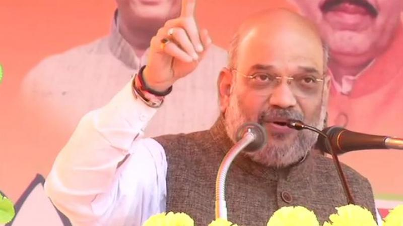 Shah also slammed the Congress government in Chhattisgarh and said Ayushman Bharat scheme has been stopped in the state which was meant for welfare of poor people.  (Image: ANI)
