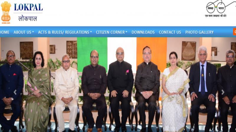 'The form will be made public soon,' a senior Personnel Ministry official said. (Photo: Screengrab | website:lokpal.gov.in)