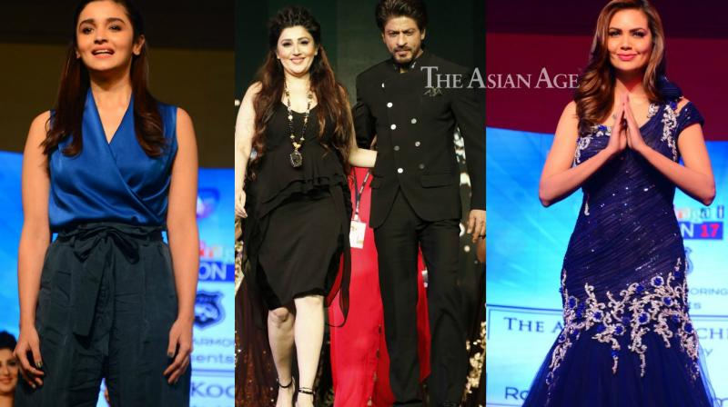 Shah Rukh Khan, Alia Bhatt and Esha Gupta walked the ramp for Archana Kochhar's fashion show which was a part of a social initiative. (Photo: Viral Bhayani)