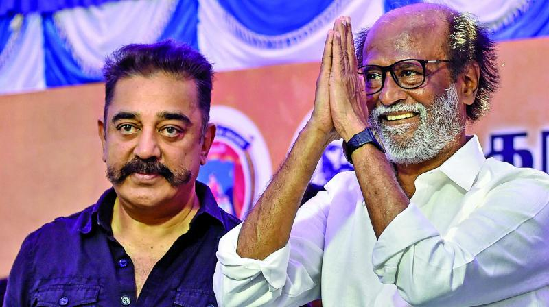 Both Kamal Haasan and Rajinikanth seem to be more of stimulations of politics rather than actual engagements with the political.