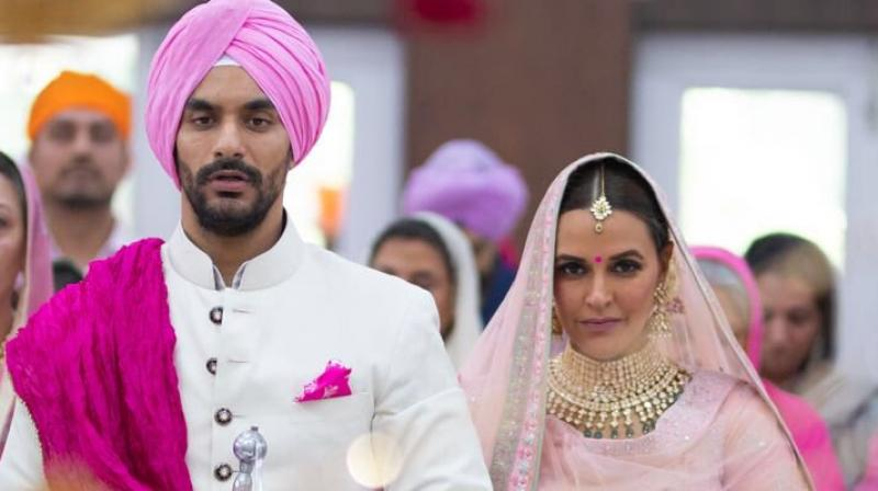 Neha Dhupia married Angad Bedi. (Photo: Twitter)