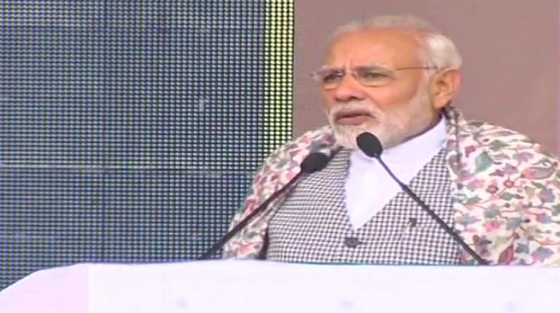 'I would urge everyone to channelise their energies in the development of the state. The solution to every problem is only development, development, development,' said Modi. (Photo: File | ANI)