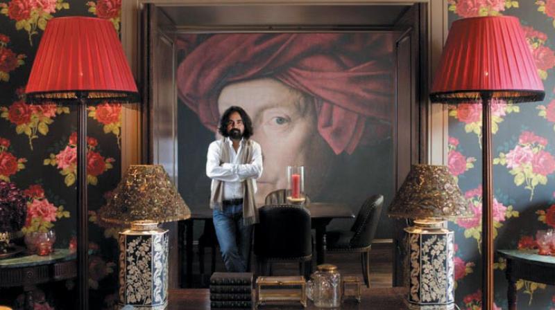 Indian designer Sabyasachi Mukherjee in the Cinema Suite