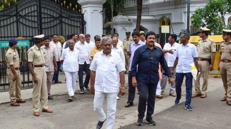 Fourteen MLAs -- including those of the Congress, the JD(S) and Independents -- have been staying at the Renaissance Hotel in Powai after resigning from the Karnataka Assembly and withdrawing support to the coalition government.  (Photo: File)
