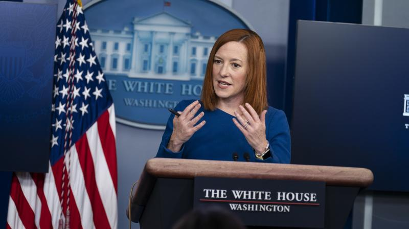 It lays out a vision for how the United States can seize what we view as a once-in-a-generation opportunity to renew America's advantages at home and abroad, White House Press Secretary Jen Psaki told reporters at her daily news conference.  (AP/Evan Vucci)