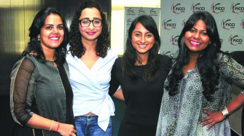(L-R) Neha Kirpal, Priyanka Gill, Richa Kar and Kanika Tekriwal.