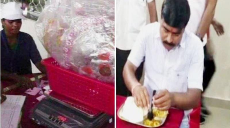 The concept of this cafe is that people can get their plastic waste weighed and enjoy a warm meal in return. (Photo: ANI)