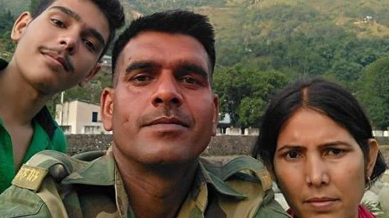 Yadav, in uniform and carrying his service rifle, had in January posted a video on Facebook, picked by other social media platforms, claiming poor quality food. (Photo: Facebook)