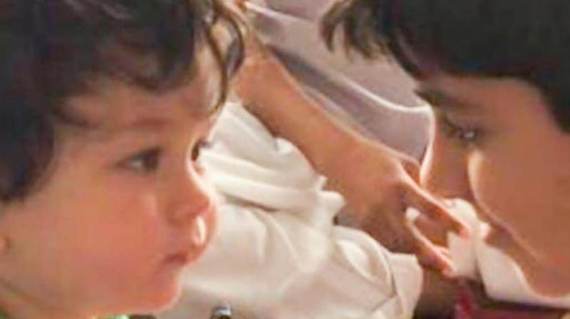 Taimur Ali Khan with cousin Kiaan.