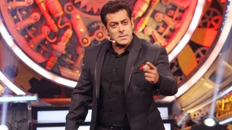 Salman Khan on a TV show.