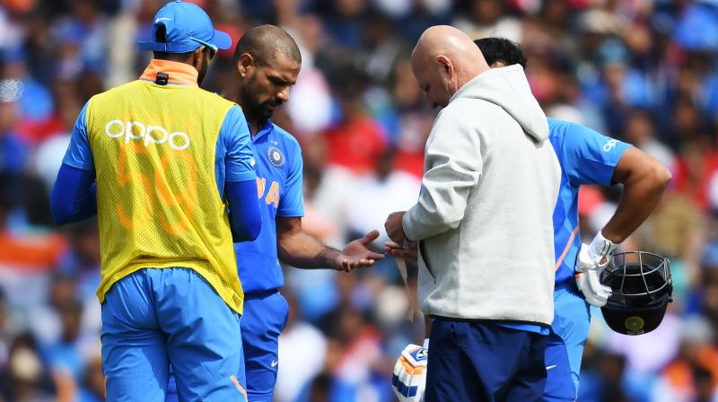 Earlier on Tuesday, the BCCI released a statement, saying that Dhawan is currently under observation after sustaining an injury. (Photo: AFP)