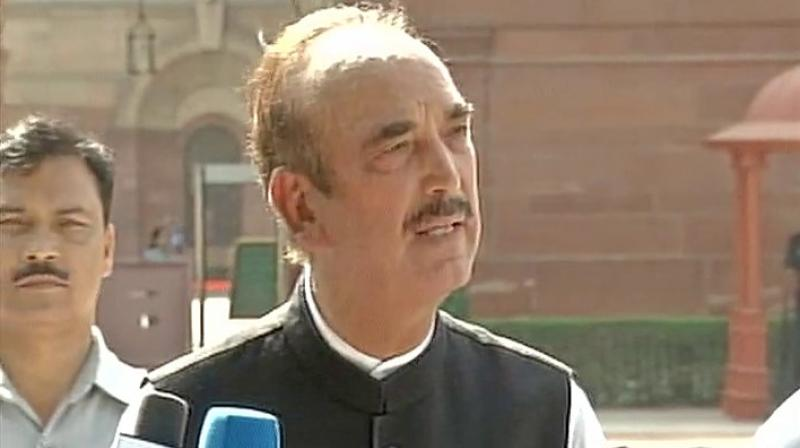 'Paise dekar aap kisiko bhi saath le sakte ho (Anyone can be brought along with money),' Azad said when asked about Doval's visit. (Photo: Twitter I ANI)
