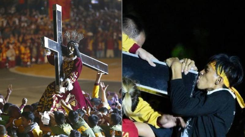 The Black Nazarene was brought to Manila by missionaries in 1606 and is believed to have survived disasters and calamities (Photo: AFP)