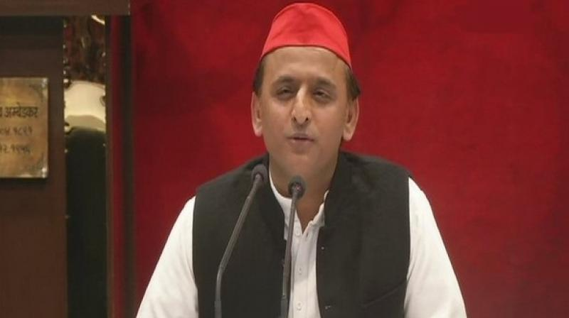 Akhilesh on Sunday met the family of Ajit Kumar, a CRPF jawan, who lost his life during the Pulwama terror attack on February 14. (Photo: File)