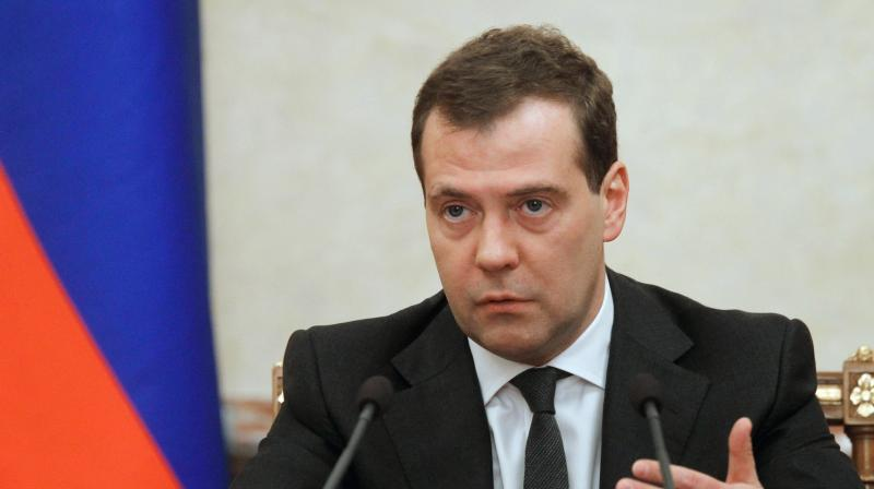 Prime Minister Medvedev fumed on Wednesday evening on Facebook that the move 'ends hopes for improving our relations with the new US administration.' (Photo: AP)