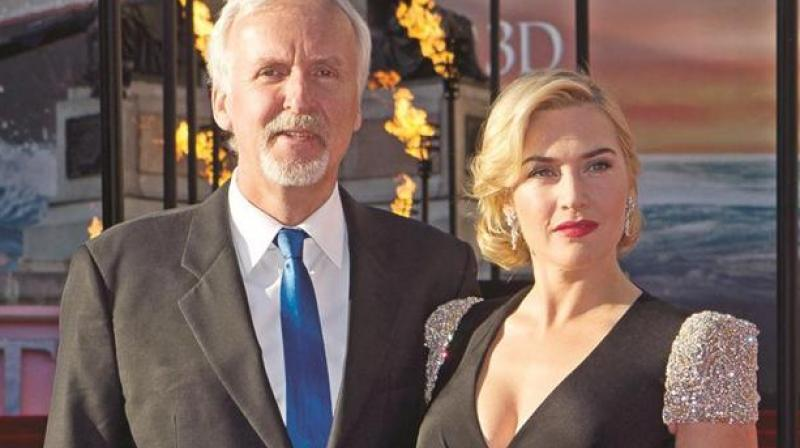 James Cameron and Kate Winslet at the premiere of 3D version of 'Titanic' in 2012. (Photo: AP)