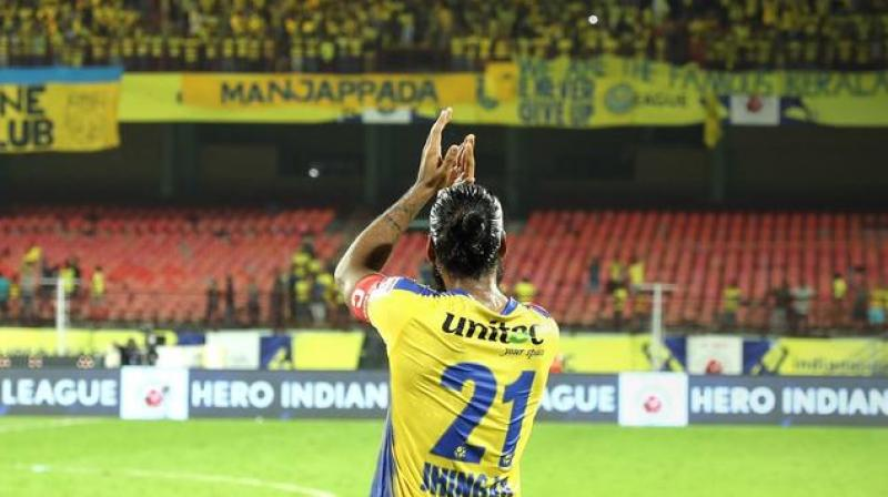 """""""This club, the fans and the state itself have given me a lot. It has helped me be who I am today. So I am delighted to have extended my time at the club,"""" said Jhingan. (Photo: ISL Media)"""