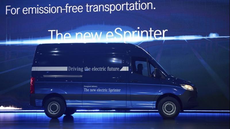 Mercedes gets big electric van order from Amazon. (AP Photo)