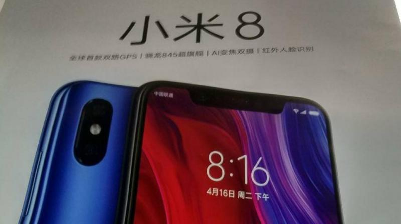 It seems that Xiaomi's 3D face unlock will scan the user's face in a similar fashion to the iPhone X's Face Unlock. (Photo: Slashleaks)