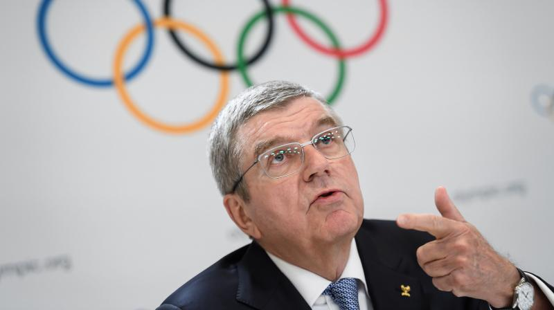 International Olympic Committee (IOC) president Thomas Bach at a press conference recently in Lausanne. AFP Photo