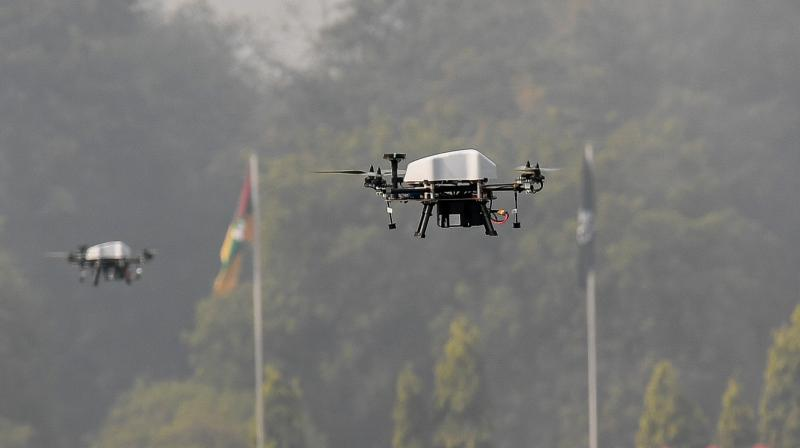 14 drones were launched reportedly from across the International Border and LoC in the recent past. (Representational Photo:AFP)