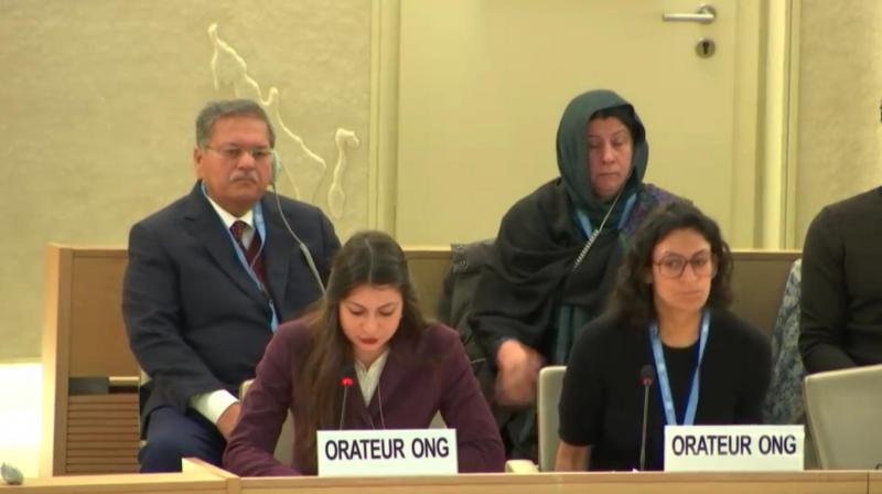 She told the UN body that Pakistan continues to use terrorist outfits to engage in proxy warfare against its neighbours. (Photo:ANI)
