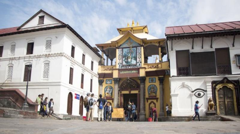 The lands, rest houses and sattals of the temple fall under the unmovable properties of the temple. Currently, 994.14 hectares land is covered by three offices which fall under the Pashupati Area Development Trusts' (PADT). (Photo: ANI)