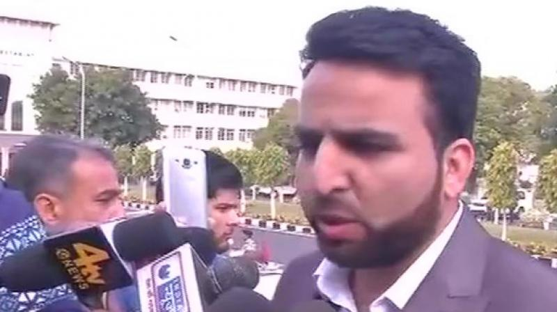 Mir, who represents Wachi constituency, said Centre's Interlocutor for Kashmir Dineshwar Sharma should talk to everyone in the state including, Hurriyat and militants. (Photo: ANI)