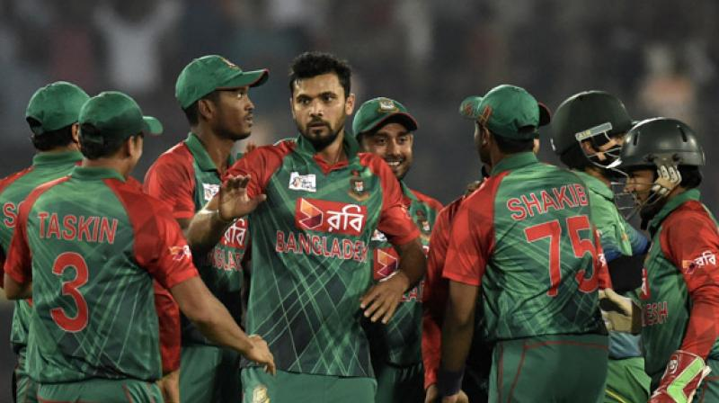 Shakib Al Hasan and Mahmadullah were the players present during the press conference that took place at National Cricket Academy in Dhaka. (Photo: AFP)