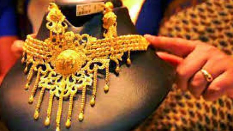 Globally, gold fell 0.20 per cent to USD 1,260.30 an ounce in Singapore today.